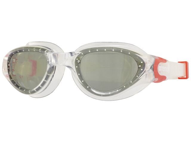 arena Cruiser Soft Goggles clear-smoke-fluo red